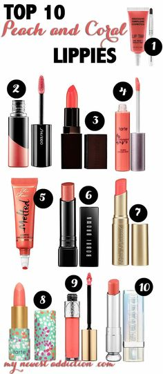 Top 10 Peach and Coral Lippies - My Newest Addiction Beauty Blog | thebeautyspotqld.com.au