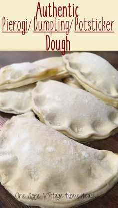 Authentic Pierogi/Dumpling/Potsticker Dough