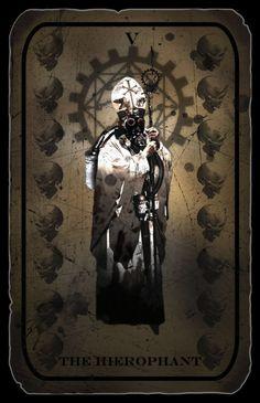 The Heirophant Tarot Card by hexxxer on DeviantArt The Hierophant, Online Tarot, High Priest, Tarot Card Decks, Tarot Spreads, Major Arcana, Deck Of Cards, Occult, The Fool