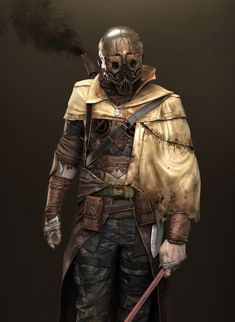 This character was inspired by Jeff Simpson's concept ([link]. I really enjoyed the Mad Max mood of it when I first saw it. The Fallout Apocalypse World, Apocalypse Art, Post Apocalyptic Art, Apocalyptic Fashion, Mad Max, Armor Concept, Concept Art, Nail Bat, Cyberpunk