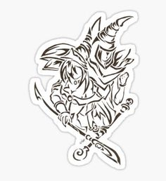 Yugioh stickers featuring millions of original designs created by independent artists. Anime Tattoos, Body Art Tattoos, Tribal Tattoos, Girl Tattoos, I Tattoo, Yugioh Monsters, Anime Monsters, Yugioh Tattoo, Future Tattoos