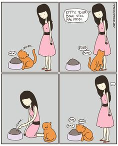 Cat vs. Human. Swish my food!