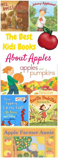 These are the best kids books about apples! They're perfect for a homeschool apple unit study or a preschool apple themed week!