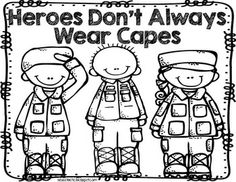 American Heroes for Little Learners(Freebie) by Mel D-Seusstastic Veterans Day Activities, Preschool Activities, Patriots Day Activities, Memorial Day, Veterans Day Coloring Page, Veterans Day Thank You, Fire Safety Week, Hero Crafts, Kindergarten Social Studies