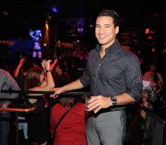 "Partying ""Extra"" Hard Mario Lopez went wild at Vanity Nightclub inside the Hard Rock Hotel & Casino in Las Vegas Saturday."