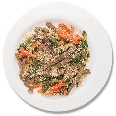 Stir-fry de vită cu semințe de susan_plate