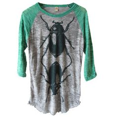 Beetles Tee Unisex Green, $47, now featured on Fab.