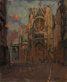 Walter Sickert - The Façade, St Jacques, Dieppe (1900)