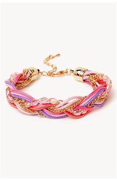 Bead + Chain Braid Bracelet