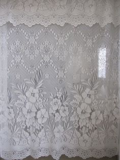 Hey, I found this really awesome Etsy listing at https://www.etsy.com/listing/171229127/lace-curtain-ivory-floral-lace-curtain