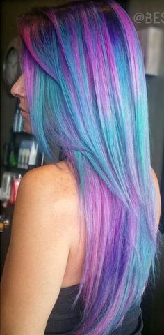 Best makeup colors for purple hair, Which pastel hair color is best for me. Pastel Hair, Purple Hair, Ombre Hair, Purple Ombre, Pink Blue, Pastel Purple, Bright Purple, Turquoise Hair Ombre, Bright Hair