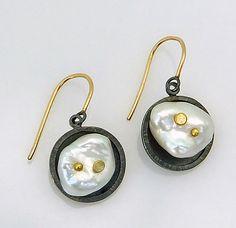 Cloud Earrings: Sydney Lynch: Gold, Silver, & Pearl Earrings | Artful Home