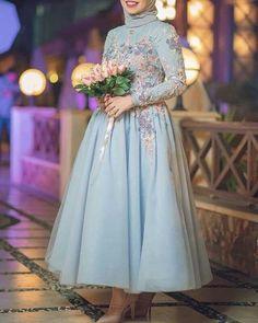 Hijab Evening Dress, Hijab Dress Party, Hijab Style Dress, Evening Dresses, Prom Dresses, Dresses For Hijab, Hijab Chic, Muslimah Wedding Dress, Muslim Wedding Dresses