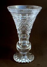 Waterford Crystal Signed Trumpet Vase