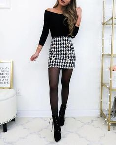 For Christmas, for example, you plan to dress your house in party mode from… Continue Reading → Casual Winter Outfits, Winter Fashion Outfits, Mode Outfits, Girly Outfits, Classy Outfits, Fall Outfits, Winter Skirt Outfit, Cute Skirt Outfits, Cute Skirts