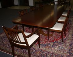 Antique Dining Room Table And Chairs Mahogany Furniture Regarding Antiques Sets