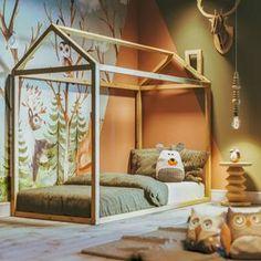 Montessori bed modern kids Bed Montessori room Bed house | Etsy Toddler Floor Bed, Toddler Bed Frame, Kids Bed Frames, Wooden Bed Frames, Wood Beds, Modern Kids Beds, Unique Kids Beds, House Beds For Kids, House Frame Bed