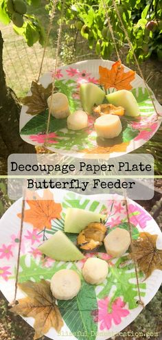 There is still some of the Summer holidays left, so why not have a go at making this attractive Decoupage Paper Plate Butterfly Feeder. Garden Crafts For Kids, Summer Crafts For Kids, Crafts For Kids To Make, Art For Kids, Kids Crafts, Paper Plate Crafts, Decoupage Paper, Paper Plates, Butterfly Feeder