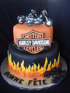harley davidson cake creation maman gateau