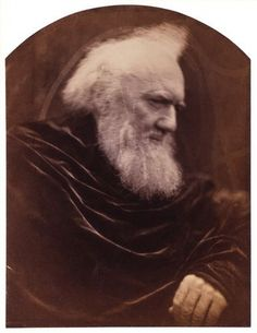 Portrait of Henry Thoby Prinsep, member of the Prinsep family, descendants of John Prinsep, merchant in India and later Member of Parliament. Albumen print with arched top. 1866. by Julia Cameron