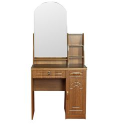 Dressing Table & Stool in Brown Colour by Penache Furnishings