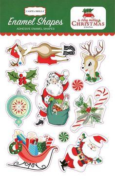 Echo Park Enamel Shapes - Very Merry Christmas