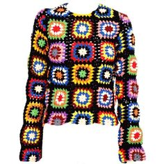 COMMES DES GARÇONS Pullover ($510) ❤ liked on Polyvore featuring tops, sweaters, jumpers, outerwear, women, multi color sweater, sweater pullover, 80s sweaters, summer tops and over sized sweaters