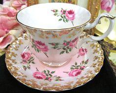 ROYAL ALBERT TEA CUP AND SAUCER PINK ROSES BRIDESMAID PATTERN TEACUP