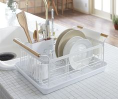 Check out the Tosca Drainer Rack in Dish Racks, Kitchenware from Zola for Kitchen Sink Storage, Kitchen Storage Solutions, Kitchen Organization, Kitchen Racks, Kitchen Cupboard, Cupboard Storage, Kitchen Drying Rack, Organization Ideas, Storage Ideas