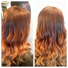 hair for Marcie ! Copper Ombre, Ombre Hair Color, Hair Today, Cut And Color, Hair Looks, Hair And Nails, Hair Inspiration, My Hair, Cool Hairstyles