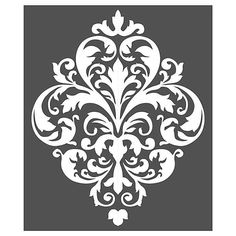 Evoking a stylish flair, the Large Damask Stencil Wall Decal features a beautiful damask design that works well with plastor, chalk base paint, and waxes. This wall decal adds elegance and timeless charm to any room, and is reusable. Damask Wall Stencils, Wall Stencil Patterns, Large Stencils, Stencil Painting, Stencil Designs, Stenciling Walls, Bird Stencil, Wallpaper Stencil, Faux Painting