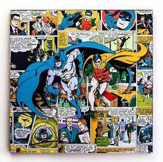 Coloridos, divertidos e com um design super bacana, os quadros DC Comics são prefeitos para decorar qualquer ambiente!Material: tela/canvasFormato: 40cm x 40cm x 1,8cm Modelo: Batman e Robin Produto original e licenciado pela DC Comics Marvel Comics Superheroes, Dc Comics Heroes, Batman Love, Im Batman, Vintage Comic Books, Vintage Comics, Batman Pictures, Batman Universe, Dc Universe