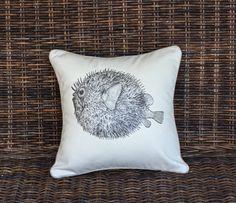 Antique Puffer Fish Pillow
