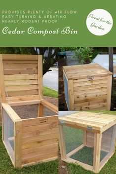 Composting is one of the most important things I can add to my garden for healthy growth of my plants. And doing it myself makes things even easier (& cheaper)! This compost bin is one of the best I've seen with the screen on 3 sides for good air flow, plus it's made of cedar so it's insect resistant. Gotta get one! #ad #garden #gardening #compost #composting #compostbin