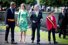 Queen Mathilde and King Philippe pay tribute to Emile Verhaeren