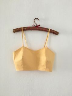 Yellow top on straps and zip от IAmCaitlyn на Etsy