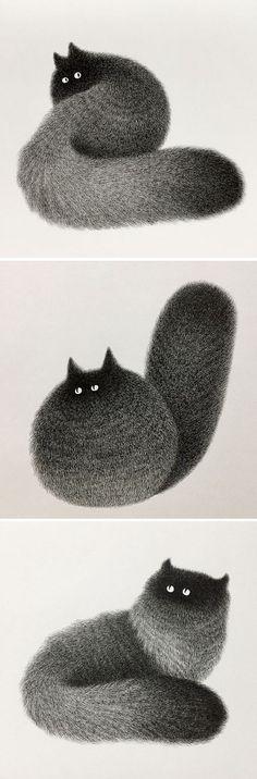 Cat Illustration by Kamwei Fong