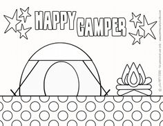 free printable: Camping Coloring Page by Petite Party Studio