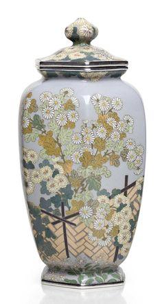 A cloisonné enamel jar and cover Christie's Japanese Art: Meiji Period Magnificence