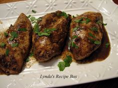 Lynda's Recipe Box: Roasted Chicken Breasts with Balsamic Vinegar Vinaigrette. Perfect when you have chicken breasts, rather than a whole chicken, but want roast chicken flavor...