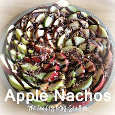 Apple Nachos--Amazing, but definitely cut recipe down.