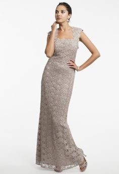 Venice Lace Cap Sleeve Dress with Open Back from Camille La Vie and Group USA