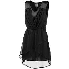 Kleid mit Wickeloptik 49,95 € <3 Hier kaufen: http://www.stylefruits.de/kleid-mit-wickeloptik-ichi/p5076052 #Chiffon #schwarz