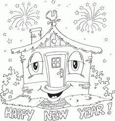 house coloring page - Coloring.com