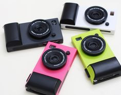 If your iPhone is your go-to camera, why not make it official with these clever cases? Iphone Lens, Iphone 4 Cases, Iphone Camera, Camera Case, Coque Iphone, Cool Cases, Cool Phone Cases, Phone Covers, Beauty Camera