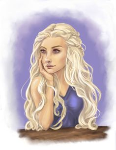 "Game of Thrones - Daenerys Targaryen ""Khaleesi"" by Chibichop on DeviantArt Daenerys Targaryen Art, Game Of Throne Daenerys, Khaleesi, Fantasy Characters, Female Characters, Character Portraits, Character Ideas, Game Of Thrones Art, Mother Of Dragons"