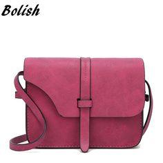 83d6960cd3 Bolish Fashion Women s Handbag Small Crossbody Bags Vintage Spring Female  Shoulder Bag Nubuck Leather Women Bag