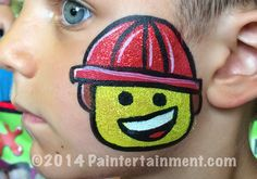 cheek art emmett Lego by Gretchen Fleener of Paintertainment.com