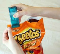 A bag re-sealer. | 23 Insanely Clever Products You Need In Your Life