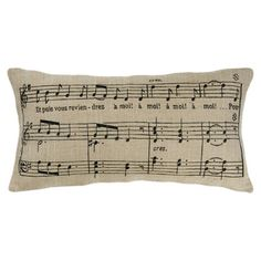 I pinned this Music Note Pillow from the Ski Chalet event at Joss and Main!